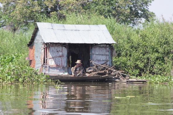 Floating village, Cambodia. Kathy West Studios©2017