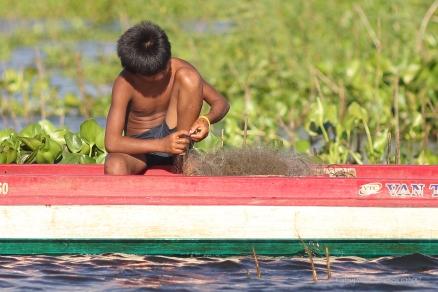 Fishing, Cambodia. Kathy West Studios©2017