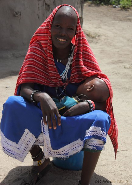 Maasai woman nursing child ©KathyWestStudios