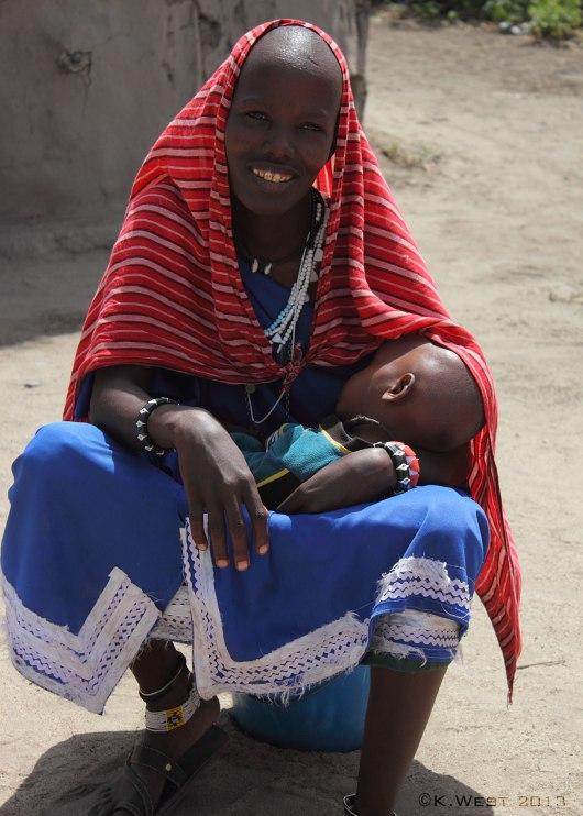 Maasai woman nursing child ©KathyWestStudios