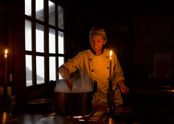 Cloud forest cook. Taken with permission. St. Lucia Cloudforest Lodge. ©KathyWestStudios