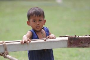 Shy boy, Cambodia. Kathy West Studios©2017