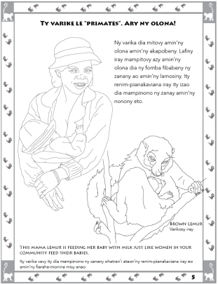 Lemur Conservation Colouring Book, by Walker-Bolton and West